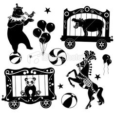 circus animals Illustration