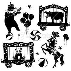 circus animals Illustration