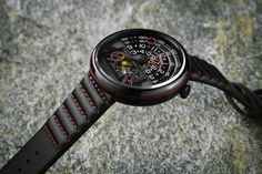 e0c666d929a Halograph II Black Red with alternative Trappist-1 Ribbed Strap