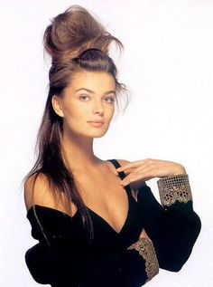 Image result for paulina porizkova with hair up