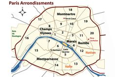 Learn About Arrondissements: The Districts of Paris: Finding Your Way in Paris - Paris Arrondissement Map and Guide France City, Paris France, Paris Neighborhoods, Paris In Spring, Paris Map, Paris Paris, Holidays France, French Classroom, Travel Wardrobe