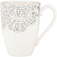Marchesa by Lenox Marchesa Lace Mug (€14) ❤ liked on Polyvore featuring home, kitchen & dining, drinkware, mugs, kitchen, fillers, coffee, cup, heather and coffee cups