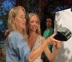 Selfie Meryl And Amanda Mamma Mia, Meryl Streep, Lily James, Movies And Series, Movies And Tv Shows, Soundtrack, Grace Gummer, Does Your Mother Know, Nova Jersey
