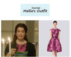 "On the blog: Mellie's (Bellamy Young) fit and flare floral dress | Scandal - ""Mama Said Knock You Out"" (Ep. 315) #tvstyle #tvfashion #outfits #fashion #FLOTUS"