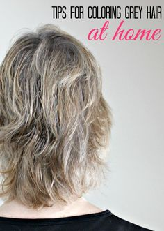 Tips for coloring grey hair at home including grey hair highlights and getting the best grey hair color #AgePerfectColor #sponsored