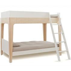 Oeuf Perch Bunk Bed (2,440 CAD) ❤ liked on Polyvore featuring home, children's room, children's furniture and beige