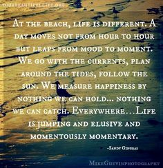 Beach quote via www.YourBeautifulLife.org