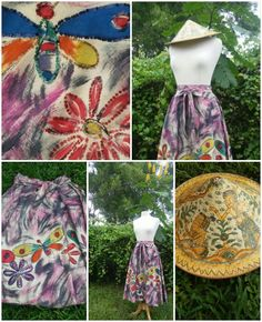 Mexican Skirt by AntiguaNM on Etsy