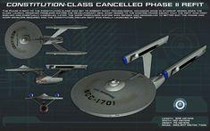 """Constitution Class Phase II by unusualsuspex.deviantart.com on @DeviantArt - U.S.S. Enterprise NCC-1701 - """"Star Trek Phase II"""""""