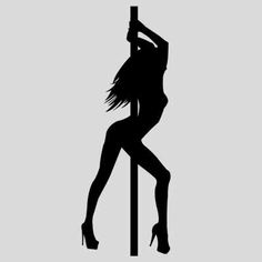 Pole dance sex girl Dancing girl silhouette Wall sticker Room decoration