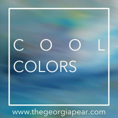 Where to use cool colors:  Color is a mood changer! A while back, I shared about two broad categories of color: warm colors & cool colors.