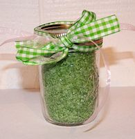 Here is how to make your own bath salt.
