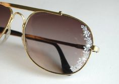(studs and pearls): diy: Lace Aviator Sunglasses