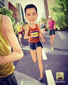 JA! Flaco y cabezón en un maratón.