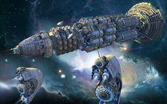 Ciencia Ficción Nave Espacial  Fondo de Pantalla