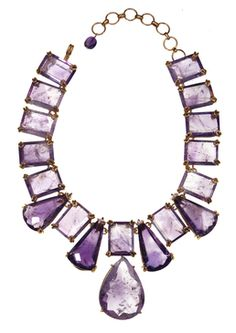 Amethyst Necklace with Removable Drop