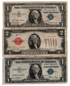 Rare Very Old US Silver Certificate 1935 1957 Dollar Antique Bank Note Lot…
