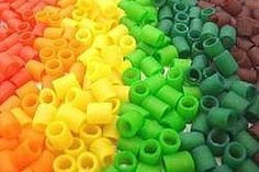 dye colorful PASTA BEADS for kids crafts