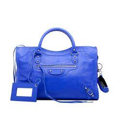 Balenciaga love the cobalt blue color! fun for spring/summer
