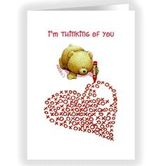 Cute Teddy Bear Xoxo Heart Valentine's Day Card Set - 18 Cards & Envelopes nside Card: Happy Valentine's Day Quantity: 18 cards and white envelopes Created and Printed in the USA Size: 5x7 paper greeting cards