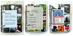 3-ring travel scrapbook - bring a hole punch and add tickets maps, etc as you go along