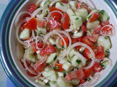 Tomato, Cucumber, and Onion Salad