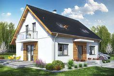 Zdjęcie projektu Sowa 11 bez garażu WRL1036 Scandinavian Design, Garage Doors, Shed, Home And Garden, Cottage, Outdoor Structures, Outdoor Decor, Houses, Home Decor
