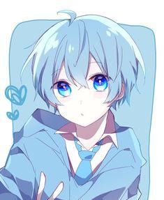 Anime Boys, Anime Wolf Girl, Cool Anime Guys, Cute Anime Boy, Manga Anime, Anime Art, Blue Hair Anime Boy, Anime Angel, Anime Boy Sketch
