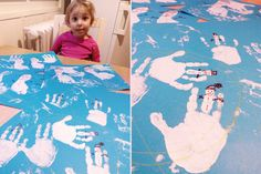 christmas diy cards, activity with kids, 2 years, painting, drawing, snowman, hand and foot print