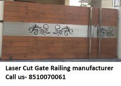 Contact us- We are manufacturers of all kind of SS MS Laser cut Gate Grill Railing. We provide all kind of Laser and CNC cutting work on these product –Metal Stainless steel Acrylic… Gate Wall Design, House Main Gates Design, Grill Gate Design, Front Gate Design, Steel Gate Design, Main Door Design, Wooden Door Design, Railing Design, House Front Gate