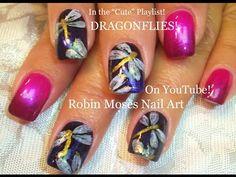 4 Easy Nail Art Tutorials - DIY Dragonfly Nail Art Design for Beginners - YouTube