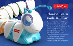 Think & Learn Code-a-Pillar Toy Teaches Programming To Pre-Schoolers -  #children #Programming #teaching