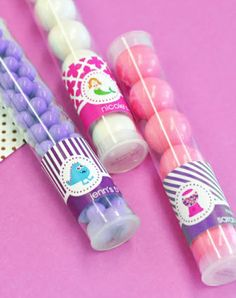 Clear Candy or Gumballs Tubes