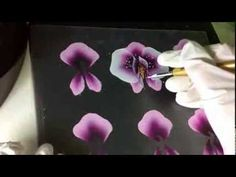 one stroke orchid painting - Google Search