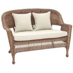 Wicker Patio Loveseat. Product: LoveseatConstruction Material: Resin Wicker  And Steel Color: HoneyFeatures