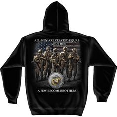 USMC Brotherhood Hooded Sweatshirt | [ eMarinePX.com ] #USMC #Marine #Clothing