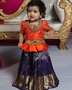 Jewerly Desing Trends Style Ideas Source by Blouses Girls Frock Design, Kids Frocks Design, Baby Frocks Designs, Baby Dress Design, Kids Lehanga Design, Frocks For Girls, Dresses Kids Girl, Kids Outfits, Baby Dresses