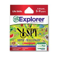 Amazon.com: LeapFrog Explorer Learning Game: I SPY Super Challenger (works with LeapPad & Leapster Explorer): Toys & Games