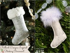 How to make a cute stocking ornament.