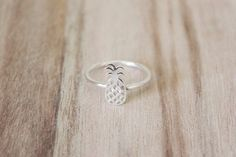 Pineapple Ring .925 Sterling Silver by CallieJewelry on Etsy