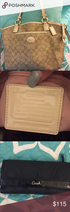 ❗️KATE SPATE WALLET SOLD❗️ COACH BAG SOLD ❗️ A bundle of two wallets and a coach bag. First wallet is coach is authentic and in good condition, Kate spade wallet and it's in fair condition and last Is coach bag authentic and the straps are peeling just a little other then that good condition!! Trading for a MK bag, Kate spade bag or any high brand bags! Or make an offer! 💕💖😊 Coach Bags Shoulder Bags