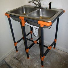 Make: Projects - PVC utility sink stand   Make: DIY Projects, How-Tos, Electronics, Crafts and Ideas for Makers