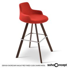 Metal legs are available in black powder, natural as well as stainless steel finishes - Soho Concept Dervish Sword Stool. #SohoConcept #BarStool #CounterStool #SohoConceptTeam Available at allmodernoutlet.com  http://www.allmodernoutlet.com/soho-concept-dervish-sword-stool/