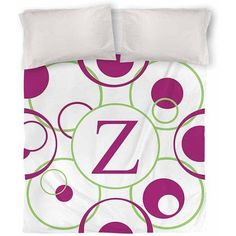 Thumbprintz Circle Variations Monogram Duvet Cover, Bright