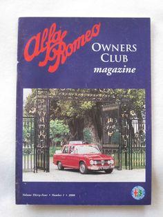 Alfa Romeo Owners Club Magazine Vol 34 Number 1 2000