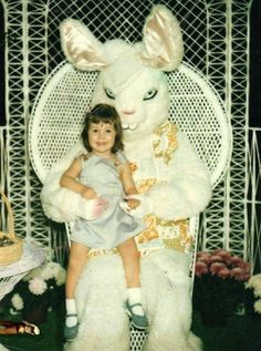 Happy Easter!   Vintage Easter Bunny pictures, they will haunt your dreams...