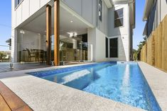 Upward Sloping Block House Design - Breezeway House The Effective