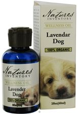 Lavender Dog... lavender oil for your dog. Relieves stress and repels fleas and ticks!