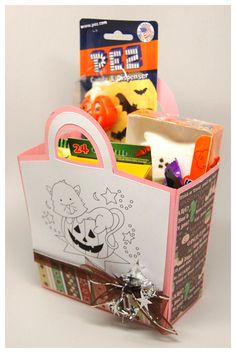 Uses Tricky Treat Tote template