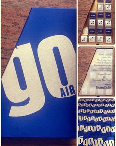 Customized chocolate boxes for GO AIRLINES